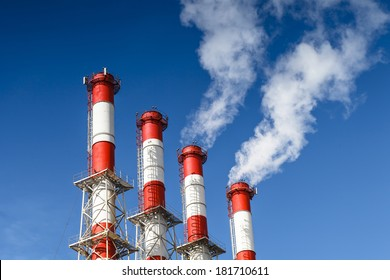 Smoking pipes of a thermal power plant