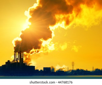 Smoking plant and sunlight