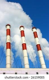 Smoking stacks of thermal power station