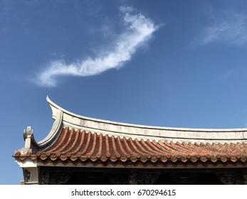 Smoky cloud on Taiwanese temp roof