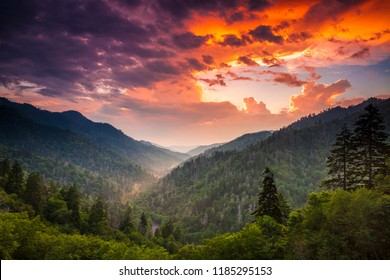 Smoky Mountains in the evening