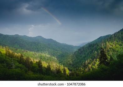 Smoky Mountains rainbow Tennessee