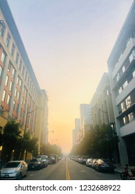 Smoky Sky in San Francisco City View during Fires from Paradise Camp Fire