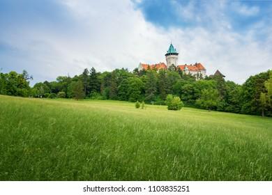 Smolenice castle, built in the 15th century in Little Carpathian Mountains (SLOVAKIA)