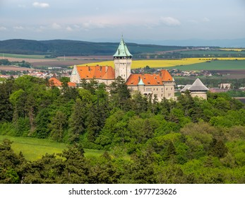 Smolenice castle showing its monumental history architecture