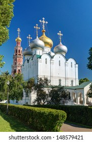 Smolensky cathedral in Novodevichy convent in Moscow, Russia