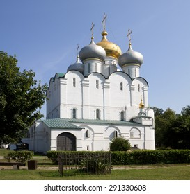 The Smolensky Cathedral in the Novodevichy Convent. Moscow, Russia. The Novodevichy Convent was founded in 16th century. In 2004 it was proclaimed a UNESCO World Heritage Site.