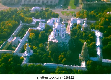 Smolny Cathedral - aerial view [#4915]