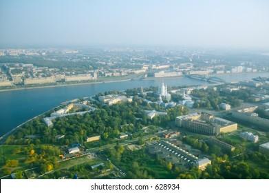 Smolny Cathedral and Neva river [#4917]