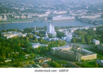 Smolny Cathedral and Neva river's bridge [#4918]