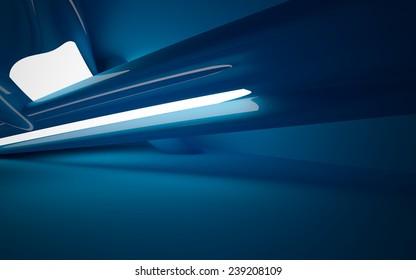 smooth blue interior
