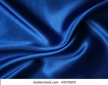 Smooth elegant dark blue silk can use as background