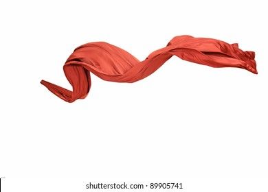 Smooth and elegant satin isolated on a white background