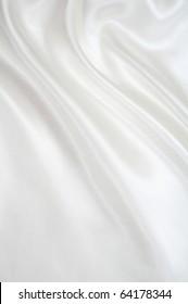 Smooth elegant white silk can use as wedding background