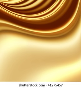 Smooth golden fabric