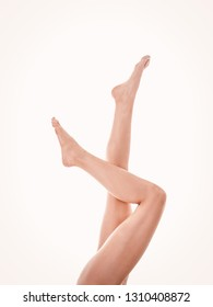 Smooth long legs without varicose veins. Healthy legs, the blood circulation.