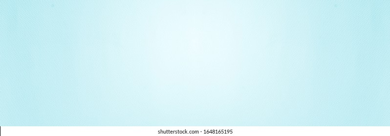 Smooth mild flat vintage paper banner bag pale texture in light blue mint green color on table background. Seamless soft turquoise teal plain gradient quote book concept for azure backdrop
