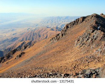 Smooth slope of high mountain
