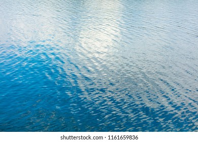 The smooth water on the lake as a background