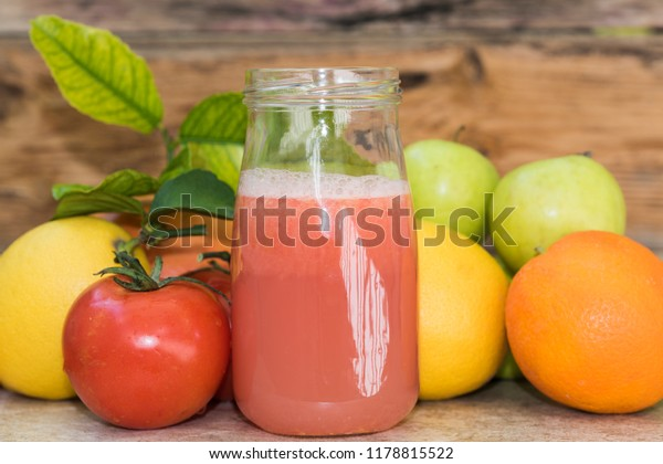 Smoothie of fruits and vegetables