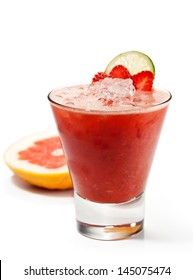 Smoothie with Grapefruit and Lime