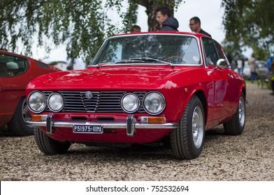 Smoszewo, Poland - 09/02/2017: Alfa Romeo GTV at Forza Italia 2017