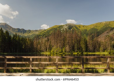 Smreczynski Staw lake in Polish Tatra mountains