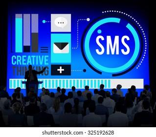 Sms Digital Messaging Communication Technology Concept
