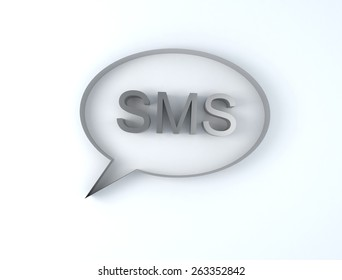 SMS icon on a white background