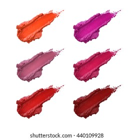 smudged lipstick color shades set