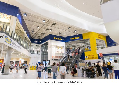 Smut Prakan ,Thailand - December 10,2017 : Front shop of IKEA Bangkok Store in Mega Bangna, Samut Prakan, Thailand. Ikea is the world's largest furniture retailer store.Ikea is a slef service furnitur