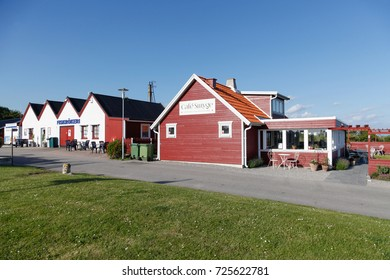 SMYGEHUK, SWEDEN - JUNE 18, 2017: Smygehuk harbour and fishing village, the southernmost point of Sweden.