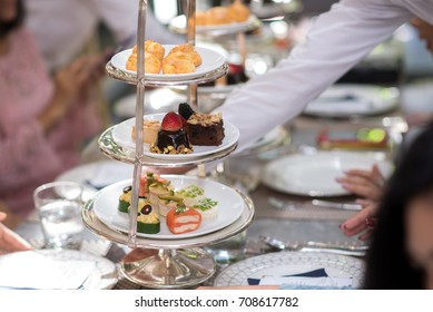 snack afternoon tea stand