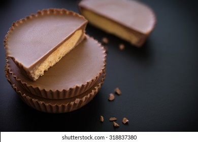 Snack Chocolate on Black Background