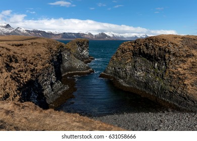 Snaefellsjokull National Park on the Snaefellsnes peninsula in Iceland