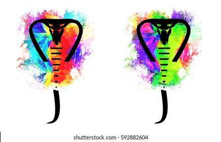 Snake colorful logo