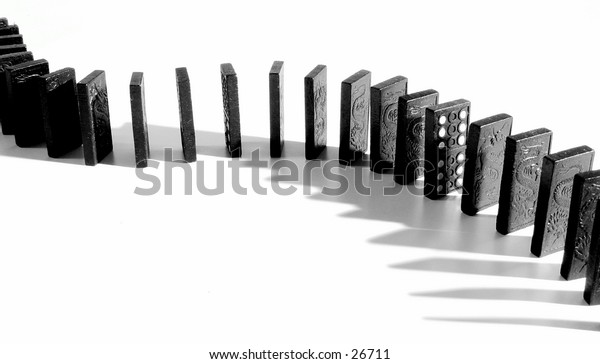 A snake of dominoes