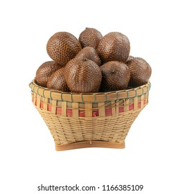 Snake Fruits or Salak Pondoh, Salacca or Sala (Salacca zalacca) isolated on white background.Tropical fruit