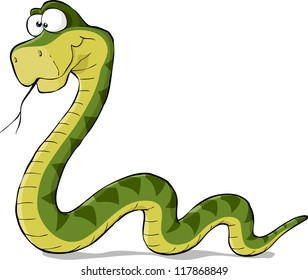 Snake on a white background raster version
