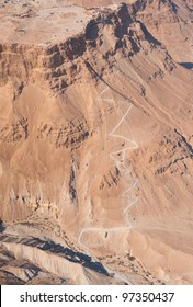 The Snake path to Masada fortress, Israel