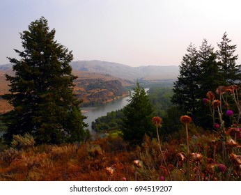 Snake River Idaho landscape From top of hill