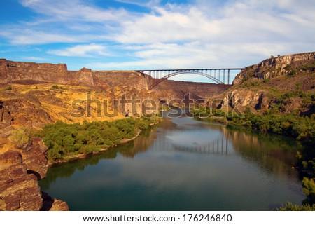 Snake River Perrine Bridge Twin Falls Stock Photo Edit Now