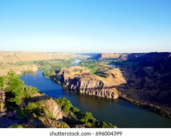 Snake river twin falls Idaho in USA West