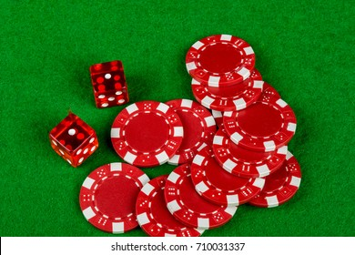 Snakes eyes with betting chips