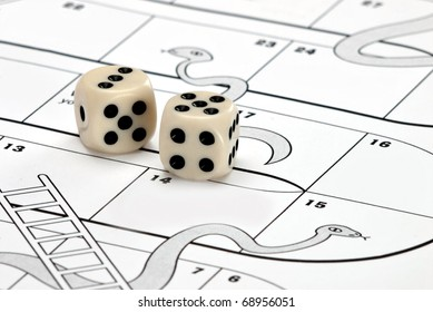 Snakes and ladders - business risk / reward concept