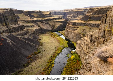 Snaking River at Palouse Falls State Park