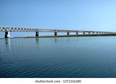 Snap of Bogibeel Bridge in Assam