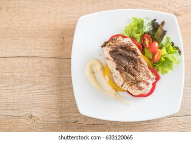snapper fish steak with vagetable