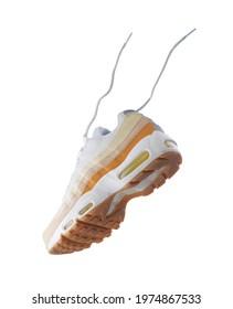 Sneaker, fashion, sport shoe, nike air max 95, lifestyle, concept, product photo, Floating sport shoe, running shoe concept. woman shoe, adidas, puma, veya, new balance, Asics, levitation concept