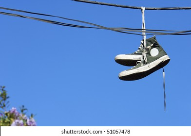 Sneakers Hanging Images Stock Photos Amp Vectors Shutterstock